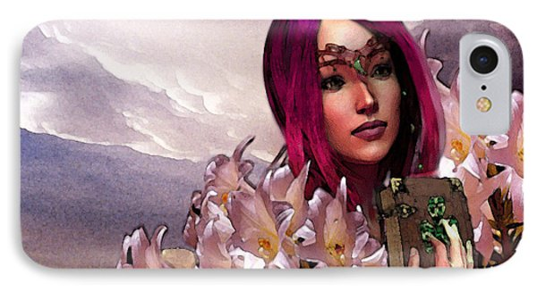 Dymphna Lily Of Fire IPhone Case