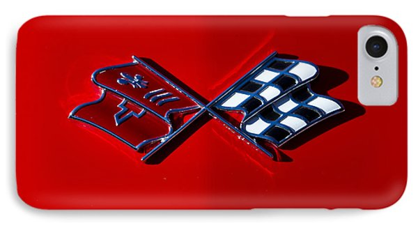 Early C3 Corvette Emblem Red IPhone Case