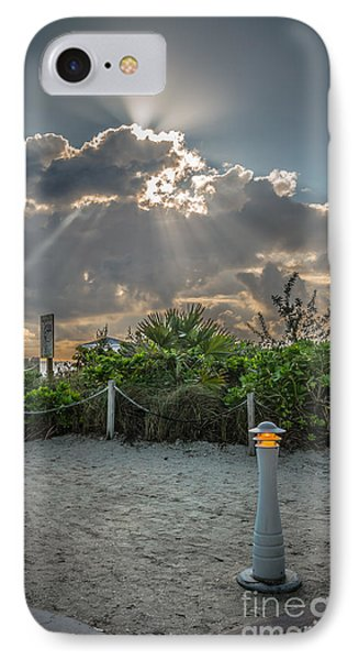 Earthly Light And Heavenly Light - Hdr Style IPhone Case