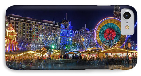 Edinburgh Christmas Market IPhone Case