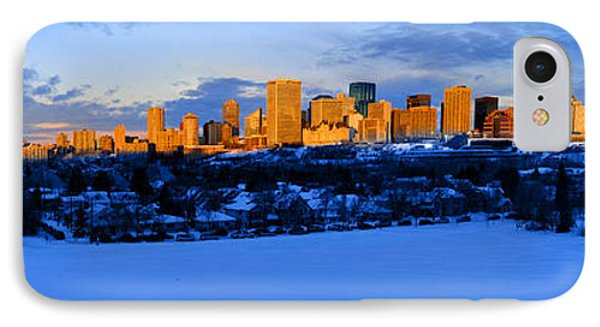 Edmonton Winter Skyline Panorama 1 IPhone Case