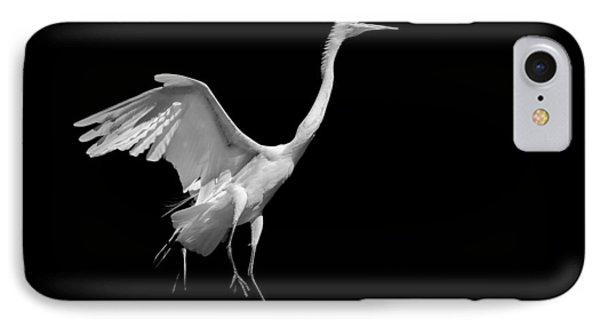 Egret On Black IPhone Case