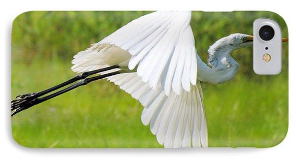 Egret Takes Flight IPhone Case