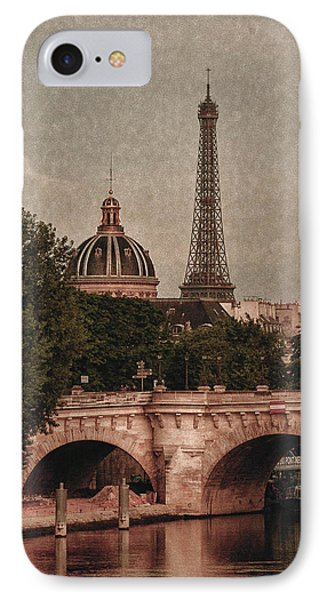Eiffeltower With Pont Neuf IPhone Case