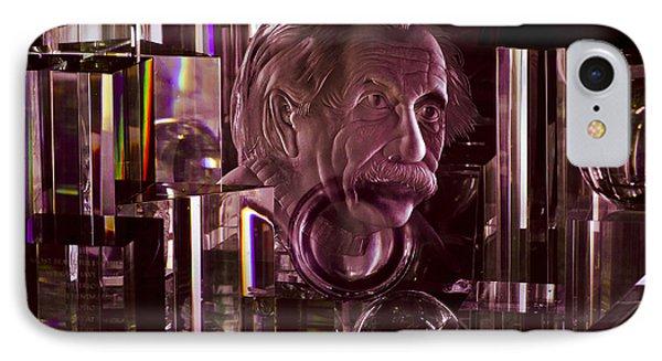 Einstein In Crystal - Purple IPhone Case