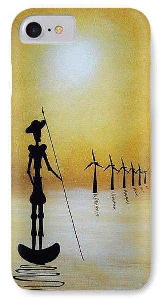 Don Quixote Fighting The Windmills IPhone Case