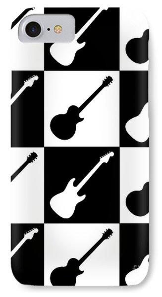 Electric Guitar Checkerboard IPhone Case