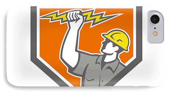 Electrician Wield Lightning Bolt Side Crest IPhone Case