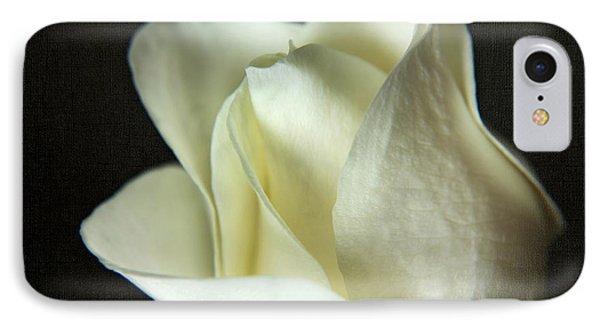 Elegant White Rose Textured IPhone Case