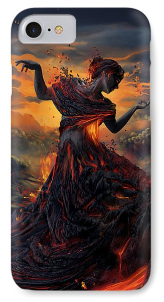 Print iPhone 8 Case - Elements - Fire by Cassiopeia Art