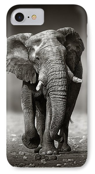 Africa iPhone 8 Case - Elephant Approach From The Front by Johan Swanepoel