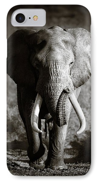 Nature iPhone 8 Case - Elephant Bull by Johan Swanepoel