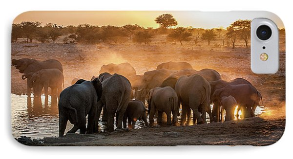 Elephant Huddle IPhone Case