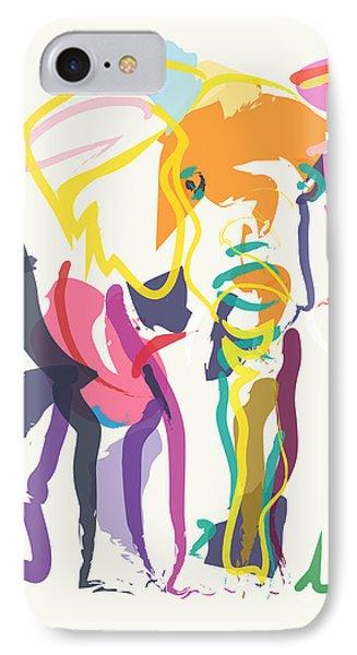 Elephant In Color Ecru IPhone Case