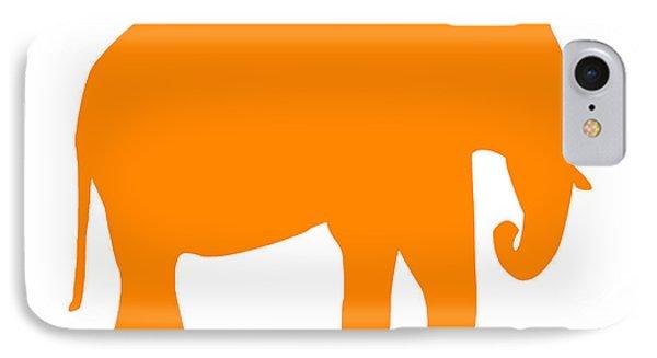 Elephant In Orange And White IPhone Case