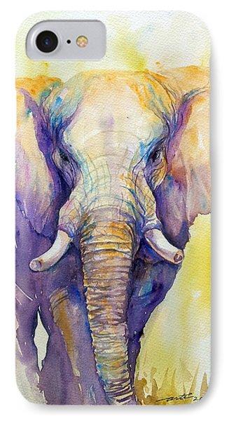 Elephant In Purple IPhone Case