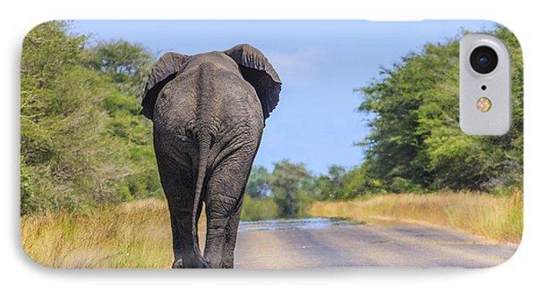Elephant Walking IPhone Case
