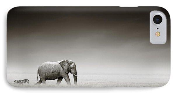 Elephant With Zebra IPhone Case
