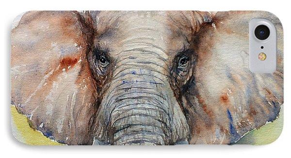 Elephant_chestnut Brown IPhone Case