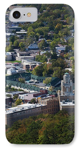 Elevated City View From Hot Springs IPhone Case