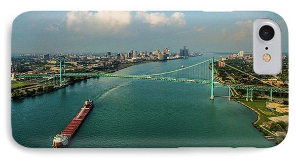 Elevated View Of Ambassador Bridge IPhone Case