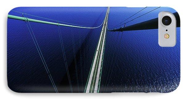 Elevated View Of Mackinac Bridge IPhone Case