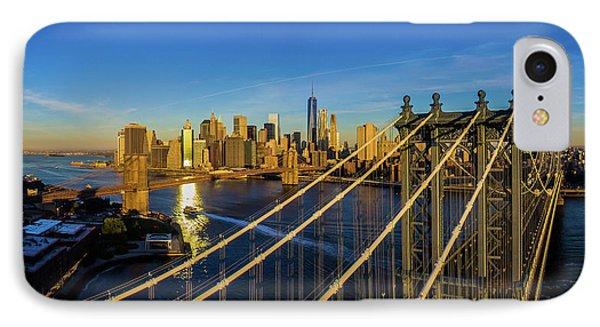 Elevated View Of The Manhattan Bridge IPhone Case
