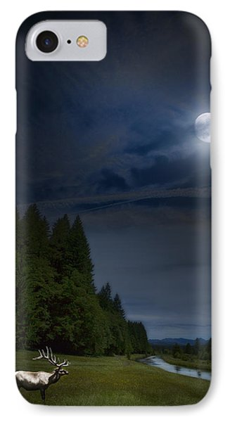 Elk Under A Full Moon IPhone Case