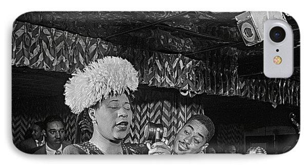 Ella Fitzgerald And Dizzy Gillespie William Gottleib Photo Unknown Location September 1947-2014. IPhone Case