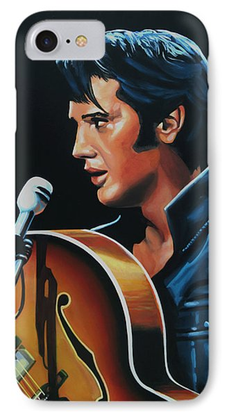 Rock And Roll iPhone 8 Case - Elvis Presley 3 Painting by Paul Meijering