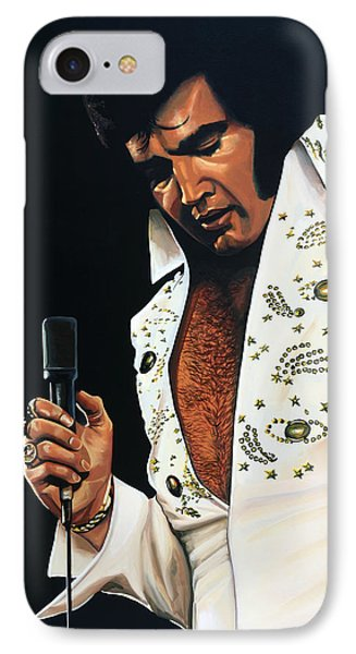 Rhythm And Blues iPhone 8 Case - Elvis Presley Painting by Paul Meijering