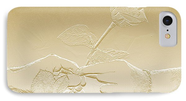 Embossed Gold Rose By Jan Marvin Studios IPhone Case