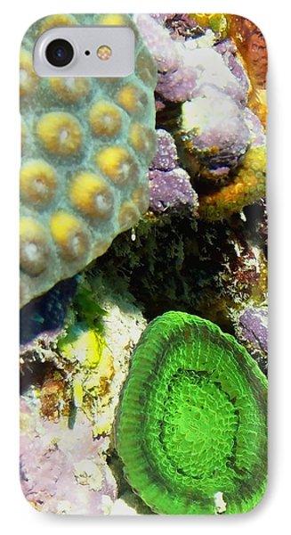 Emerald Artichoke Coral IPhone Case