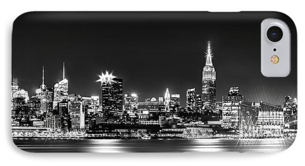Empire State At Night - Bw IPhone Case