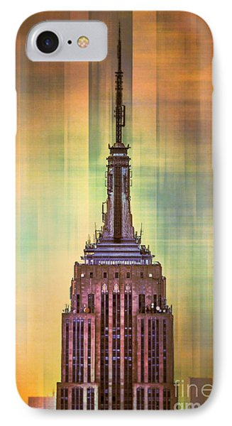City Scenes iPhone 8 Case - Empire State Building 3 by Az Jackson