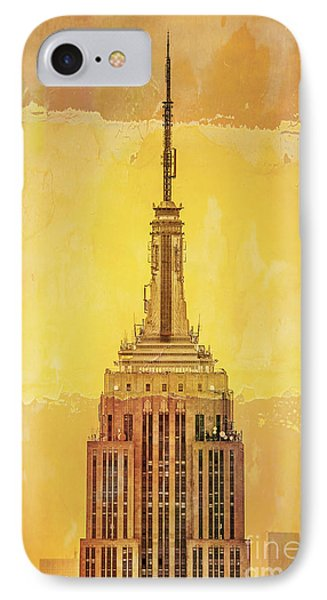 City Scenes iPhone 8 Case - Empire State Building 4 by Az Jackson