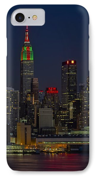Empire State Building In Christmas Lights IPhone Case