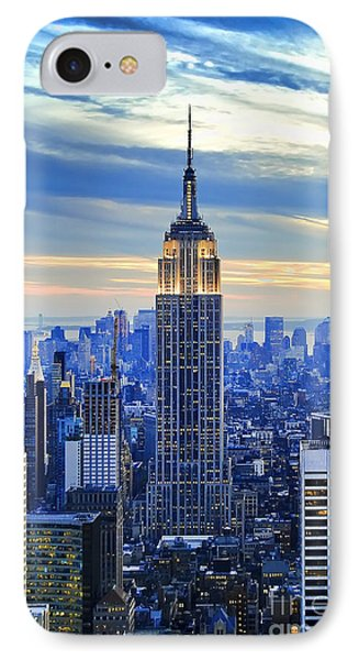 City Scenes iPhone 8 Case - Empire State Building New York City Usa by Sabine Jacobs