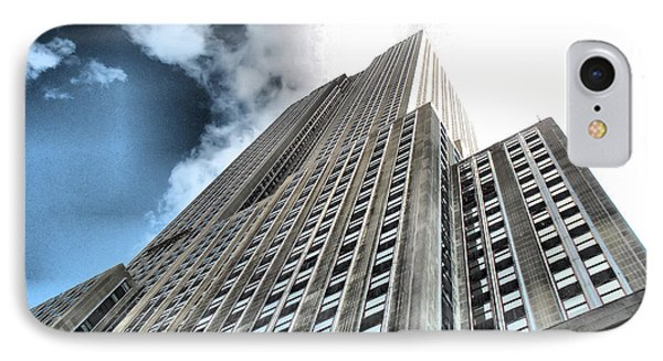 Empire State Building - Vertigo In Reverse IPhone Case