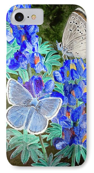 Endangered Mission Blue Butterfly IPhone Case