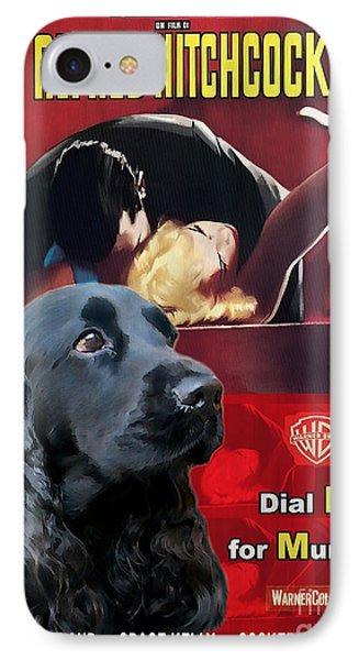 English Cocker Spaniel Art - Dial M For Murder IPhone Case