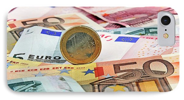 Euro Banknotes And Coins IPhone Case