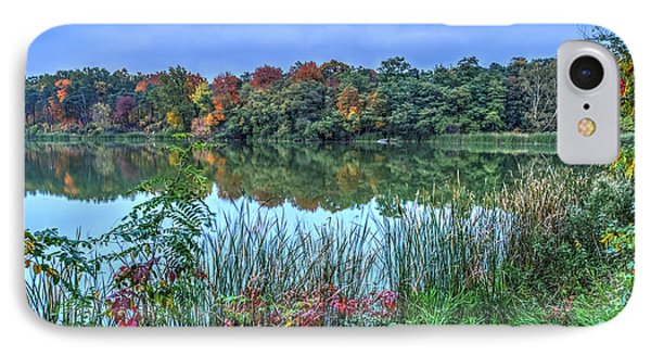 Fall Colors At Blue Hour Near Zegrze IPhone Case