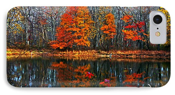 Fall Colors On Small Pond IPhone Case