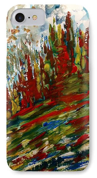 Fall Hillside In Abstract IPhone Case