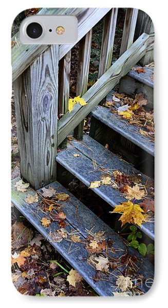 Fall Leaves On Steps IPhone Case