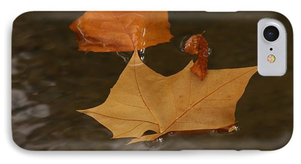 Fall Leaves On Water IPhone Case