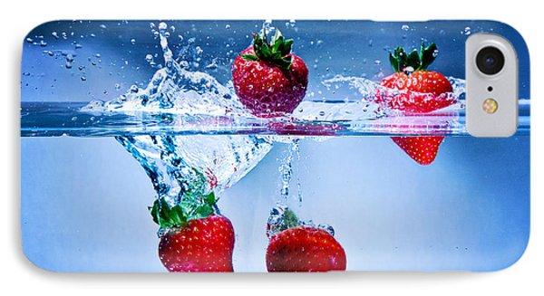 Falling Strawberries IPhone Case