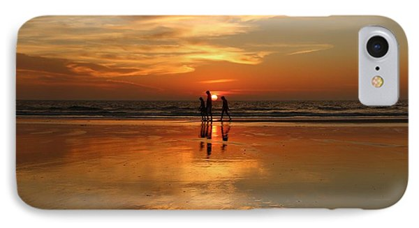 Family Reflections At Sunset -3  IPhone Case