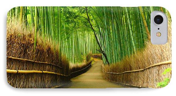 Famous Bamboo Grove At Arashiyama IPhone Case